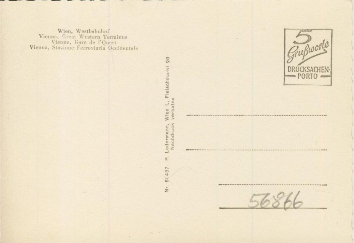 Wien v. 1968  Westbahnhof  (56866) 1