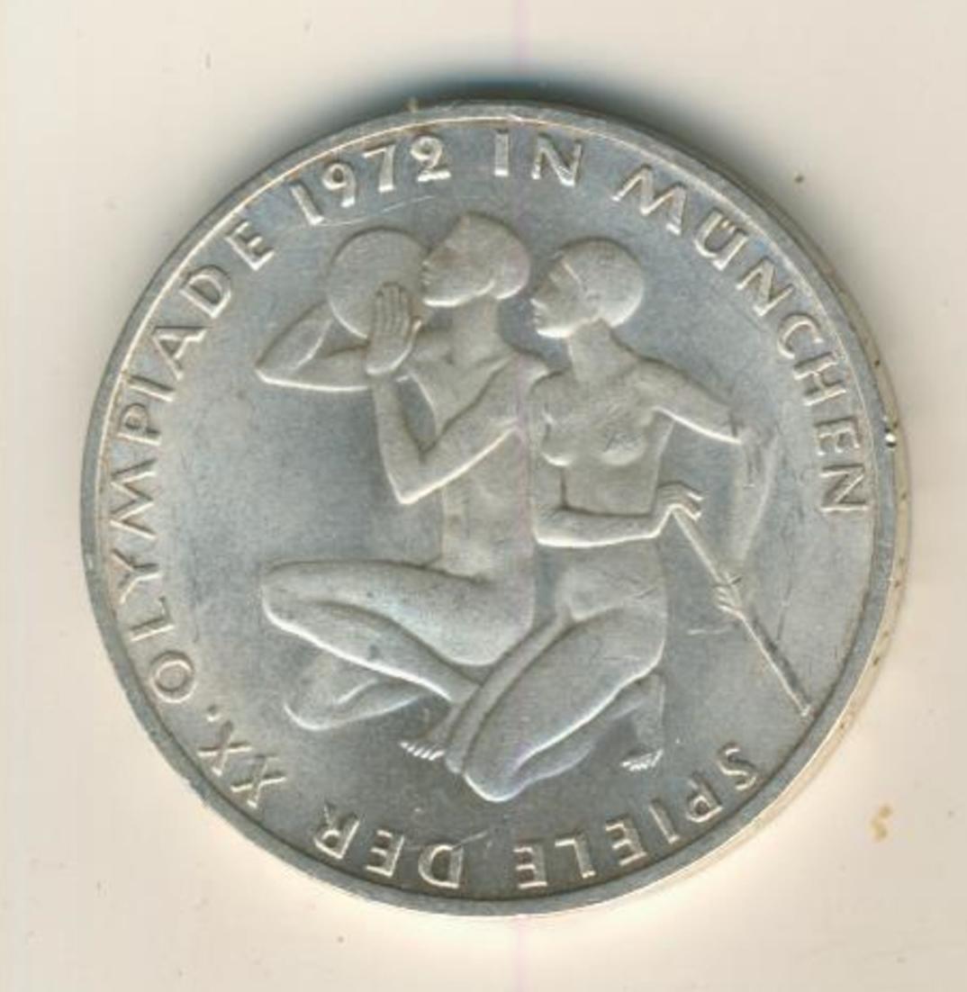 Silbermünze 10 DM, Olympische Spiele 1972 München, Prägestätte F  (03) 0