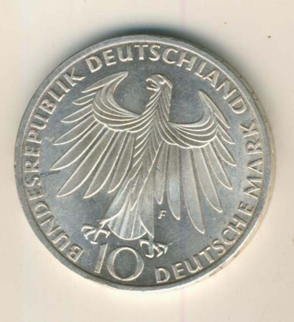 Silbermünze 10 DM, Olympische Spiele 1972 München, Prägestätte F  (03) 1