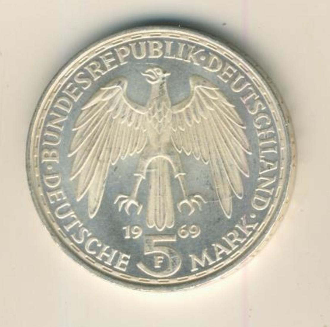 5 Mark DM 1969 F Gerhard Mercator, Silber   (12) 1