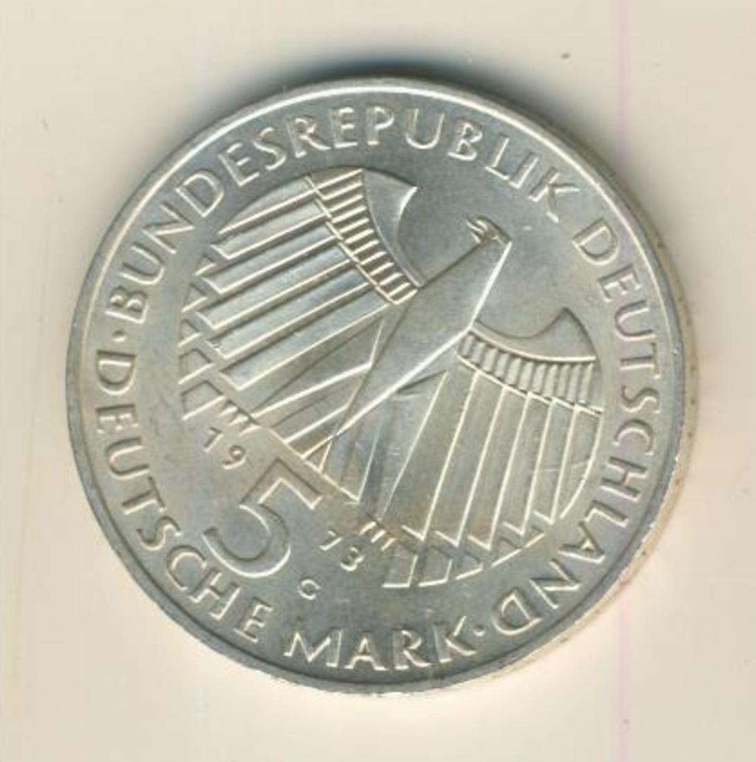 BRD 5 Mark 1973 G -- 125. Jahrestag der Frankfurter Nationalversammlung   (14) 1