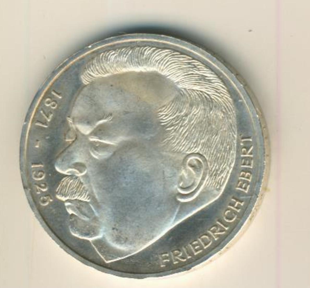 5 Mark 1975 J Friedrich Ebert, Silber   (16) 0