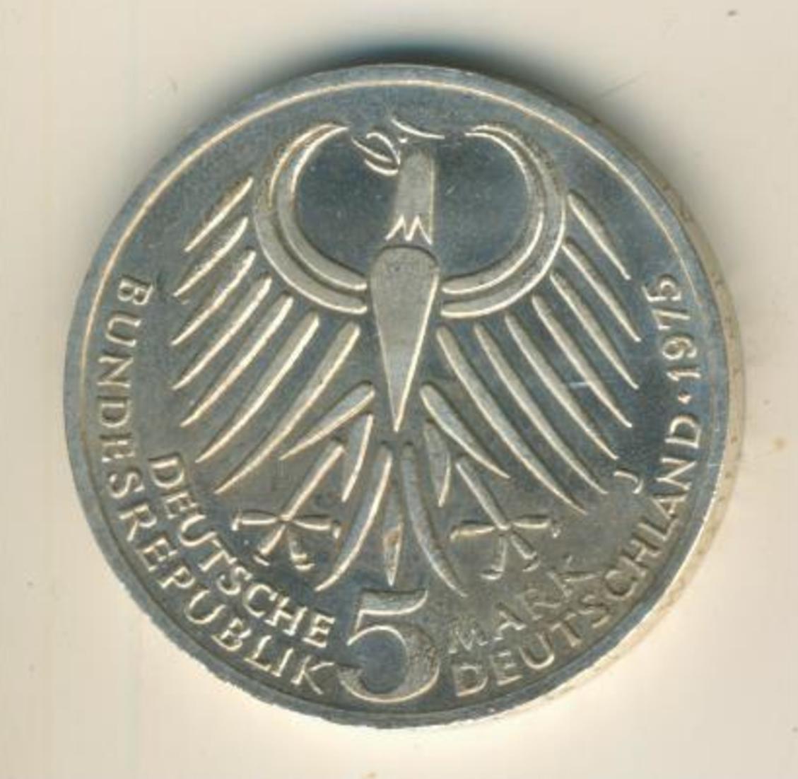 5 Mark 1975 J Friedrich Ebert, Silber   (16) 1