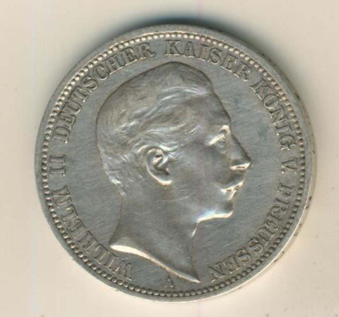 3 Mark 1908,A, Preussen,Deutsches Reich Kaiserreich,Silber (23) 1
