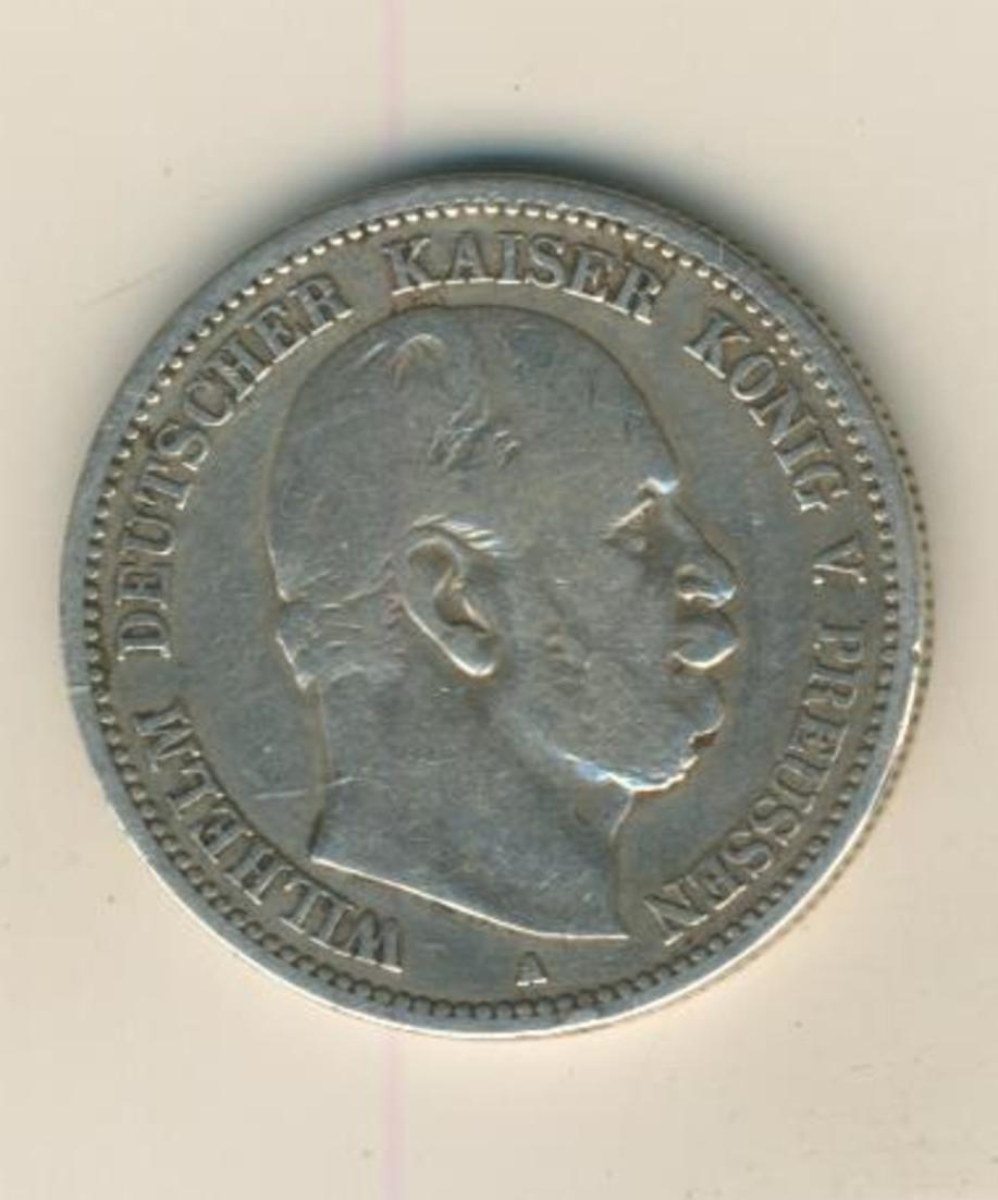 2 Mark,1876,A, König von Preussen ,Silber (26) 1
