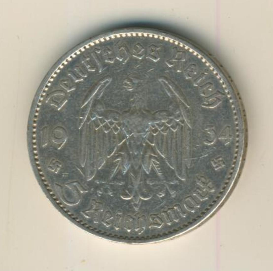 5 Reichsmark 1935,A, Garnisonskirche ,Silber 900/1000  (30) 0