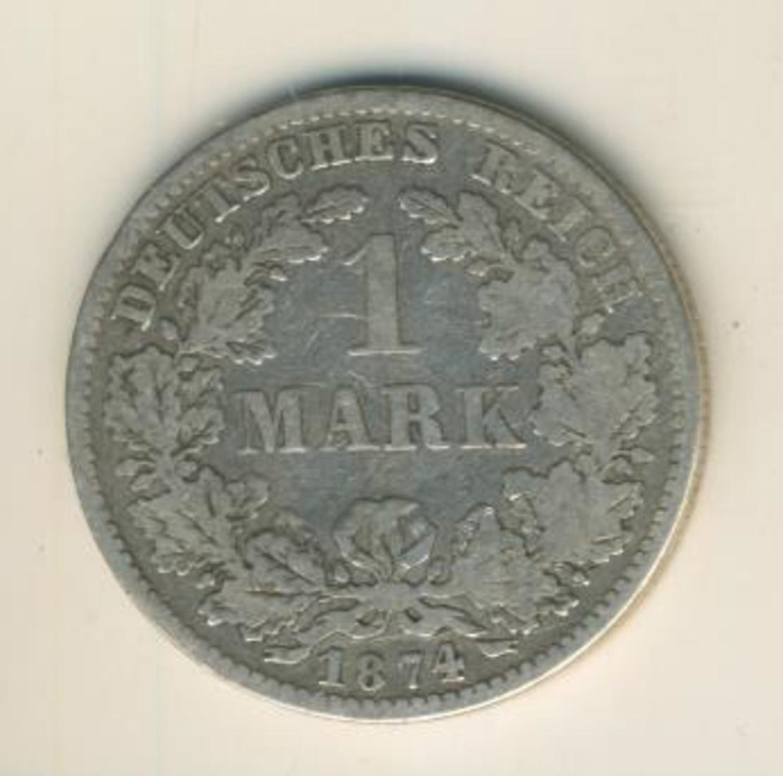 1 Mark 1874,D, KAISERREICH, Silber (33) 0