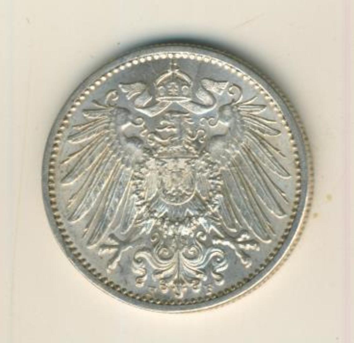 1 Mark 1910,F, KAISERREICH, Silber (35) 1