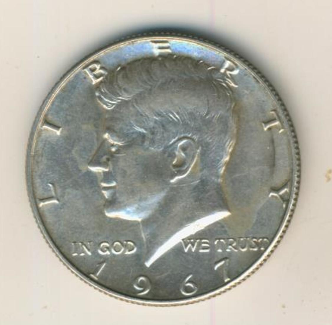 Half Dollar 1967 John F Kennedy United States, Silber (40) 0