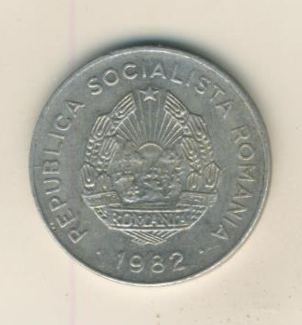 25 BANI MÜNZE, REPUBLICA SOCIALISTA ROMANIA 1982  (42) 1