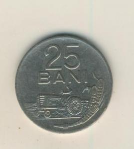 25 BANI MÜNZE, REPUBLICA SOCIALISTA ROMANIA 1966  (43)