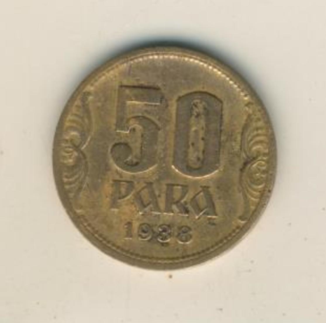 50 Para 1938 Jugoslawien  (45) 0