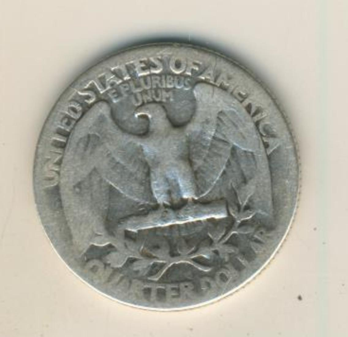 Moneda Estados Unidos América USA 1941 quarter Dollar silver.900 coin   (44) 1