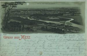 Metz v. 1898  Metz - vom Fort St. Quentin  (57116)