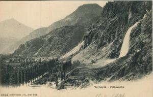 Vernayaz v. 1906  Dorfansicht und Pissevache  (57432)