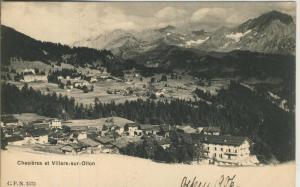 Chesieres et Villars sur Ollon v. 1906  Dorfansicht  (57433)