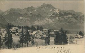 Villars sur Ollon v. 1906  Dorfansicht  (57436)