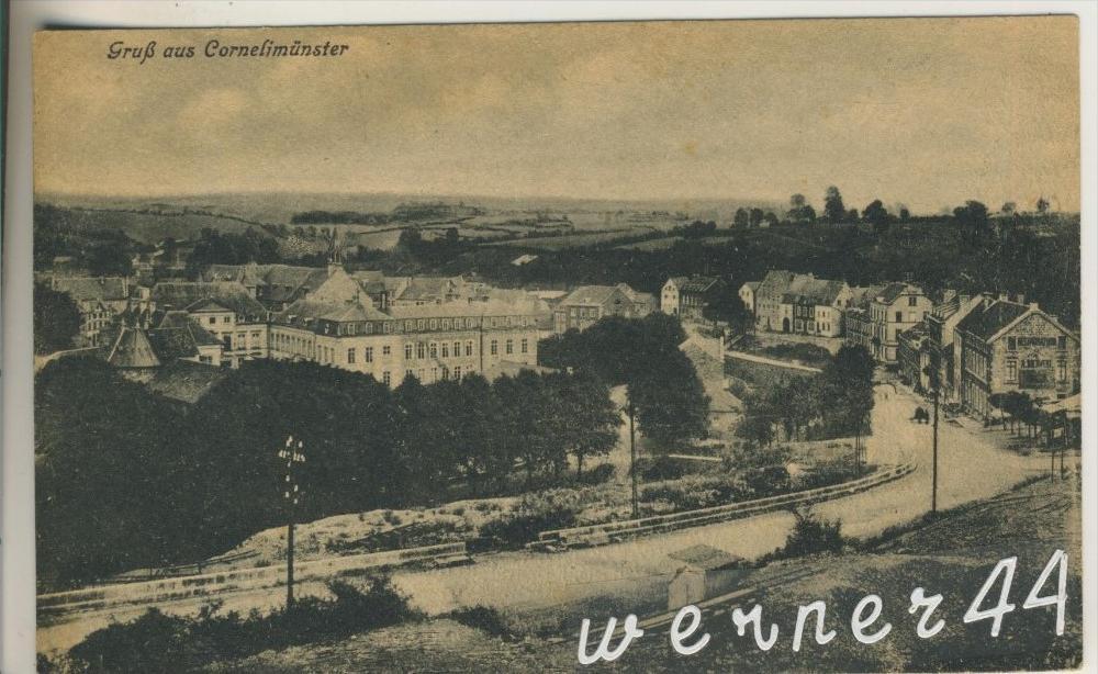 Cornelimünster v. 1916 Teil-Dorf-Ansicht mit Retaurant A. Blenwest  (33211) 0