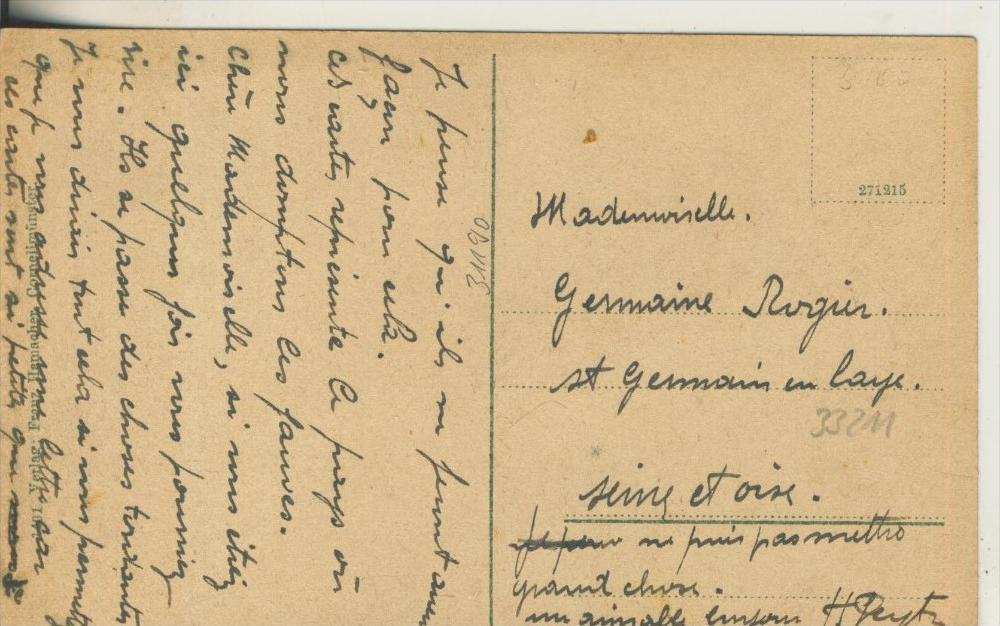Cornelimünster v. 1916 Teil-Dorf-Ansicht mit Retaurant A. Blenwest  (33211) 1