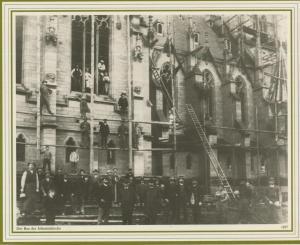 Saarbrücken v. 1897  Der Bau der Johanniskirche  (57507)