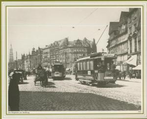 Hamburg v. 1905  Die Ringbahn am Meßberg  (57534)