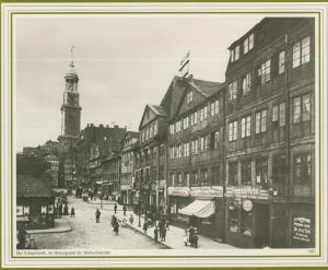 Hamburg v. 1901  Der Schaarmarkt - Gastwirschaft
