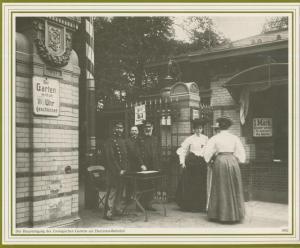 Hamburg v. 1902  Der Haupteingang des Zoologischen Gartens am Dammtor Bahnhof  (57537)