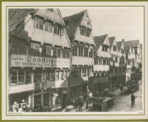 Hamburg v. 1906  Spitalerstrasse - Conditorei A. Wiering,Glaserei A. Debrodt,Schuhwaren-Lager,Gasthof  (57538)