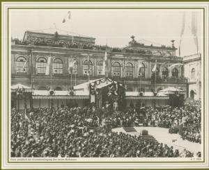 Hamburg v. 1886  Feier anläßlich der Grundsteinlegung des neuen Rathauses   (57539)