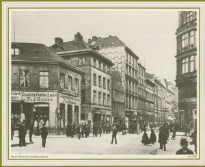 Hamburg v. 1900  Neuer Wall / Ecke Stadthausbrücke,Cigarren Fabrik Keinke,Handschuh Lager,Hotel Adolf Mosse   (57540)
