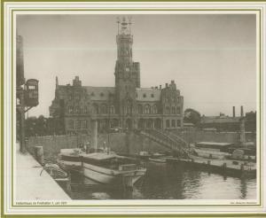 Bremen v. 1911  Hafenhaus im Freihafen 1  (57561)