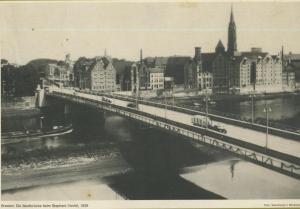 Bremen v. 1939  Die Westbrücke beim Stephani-Viertel   (57567)