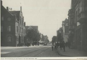 Bremen v. 1930  Buntentorsteinweg mit dem Postamt na der Ecke Osterstrasse  (57571)