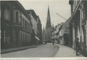 Bremen v. 1930  Auf den Häfen, mit der Rembertkirche und der Turnhalle des ABTV  (57574)
