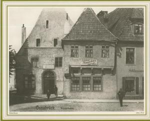 Osnabrück v. 1912  Restaurant Möserhaus und Schlosserei   (57579)