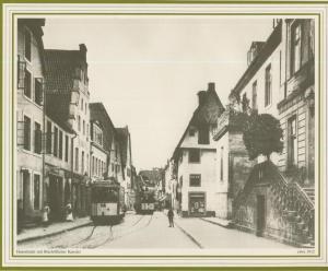 Osnabrück v. 1912  Hasestrasse mit Bischöflicher Kanzlei und Gasthaus  (57580)