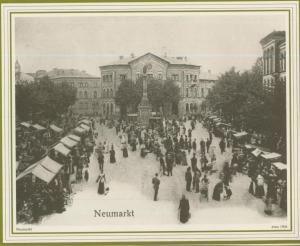 Osnabrück v. 1904  Neumarkt mit Verkaufsstände  (57588)