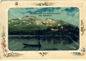 Die Herren - Insel mit der Kampenwand des bayerischen Märchenkönigs, König Ludwig II. von Bayern v. 1904 -- (32805a.)