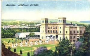 Komotau v. 1926  Hotel Städtische Parksäle -- siehe Foto!!  (32808)