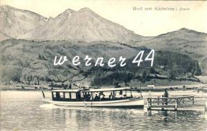 Gruß vom Kochelsee v. 1916 Bootsanlegestelle  -- siehe Foto !!  (32813)