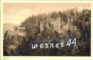 Oybin v. 1935  Blick auf Ruinen und das Restaurant -- siehe Foto !!  (32842)
