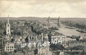 London v. 1916 Teil-Stadt-Ansicht  -- siehe Foto !!  (32893)