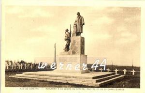 Lorette v. 1920  Monument a la Gloire du General Maistre et du 21 Coros Armee & Friedhof -- siehe Foto !!  (32897)