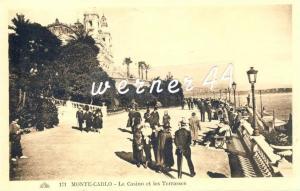 Monte  Carlo v. 1925  La Casino et les Terrasses -- siehe Foto !!  (32899)