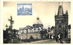 Praha v. 1934 Altstädter Brückenturm -- siehe Foto !!  (32901)