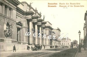Bruxelles v. 1912  Strasse & Musee des Beaux-Arts  -- siehe Foto !!  (32985)