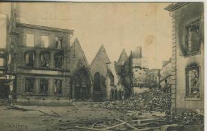 Donchery v. 1916  Zerstörte Stadt  (57776)