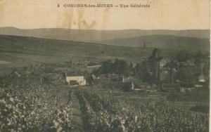 Couches les Mines v. 1916  Dorfansicht  mit Weinberge  (57796)