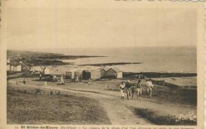 St. Gildas de Rhuys v. 1946 Fischerhütten am Strand  (57799)