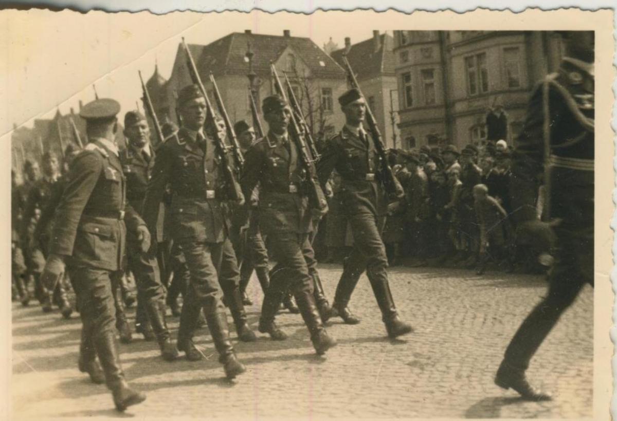 Raddagshausen und Harz v. 20 April 1936  Aufmarsch der Wehrmacht -- siehe Rückseite !!  (57830) 0